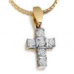 Crosses with diamonds