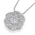 Pendants with diamonds