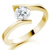 Low set chloe engagement ring
