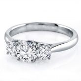 Certified Jessica 18K White Gold Diamond Engagement Ring 0.33CT