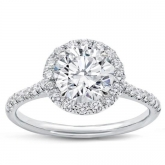 Wedding ring with diamonds F / VS1 (1.15 ct)